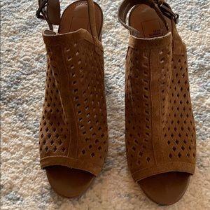 Cognac Suede Shoes